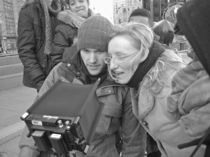 Roswitha_directing_Building_Bridges_film_2012